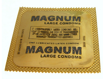 condom wrapper ate dog